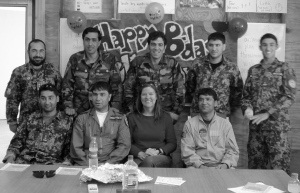 Birthday Photo with Students