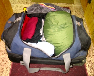 Sleeping Bag a necessity in the duffel backpack!