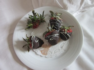Welcome to Your State Room, enjoy chocolate covered strawberries!!