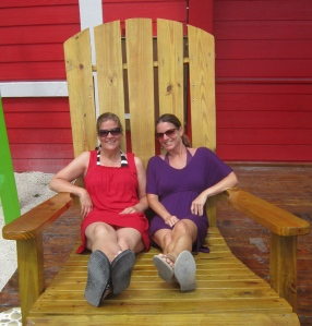 Relaxing outside Senor Frogs!
