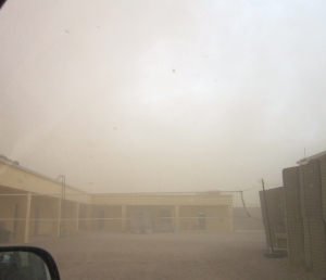 Sand Storm arrives in our Compound!